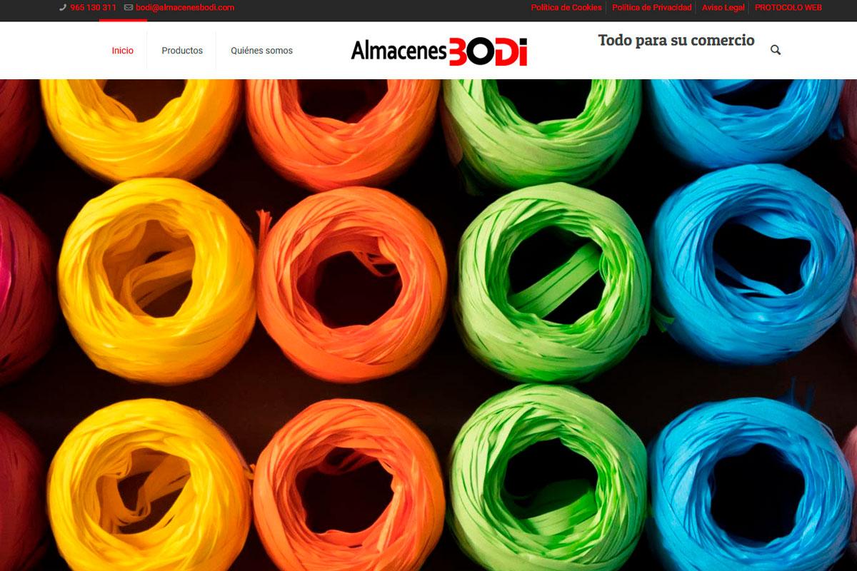 Bolsasyenvasesbodi(punto)com Página web de un almacén de papelería al pormayor