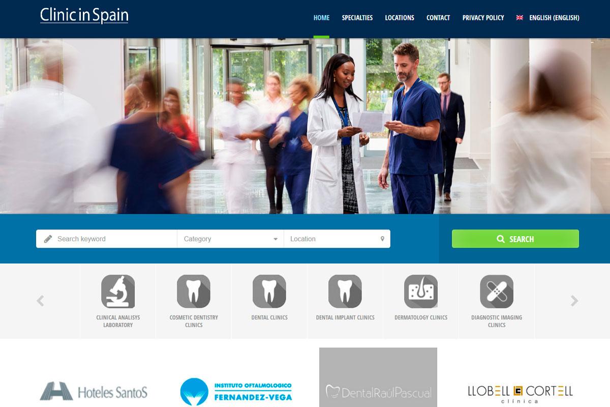 Directorio de clínicas médicas en España Clinicinspain.com