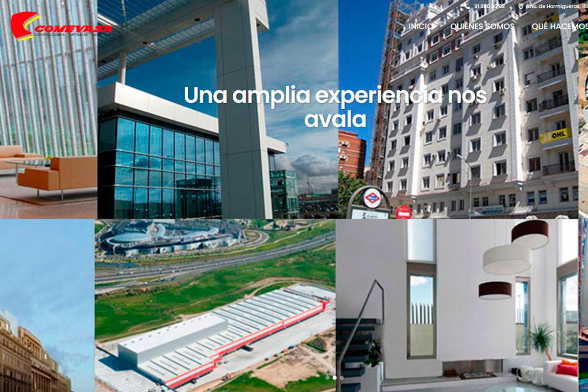 Desarrollo de página web de una empresa de contrucción Comevasa.es