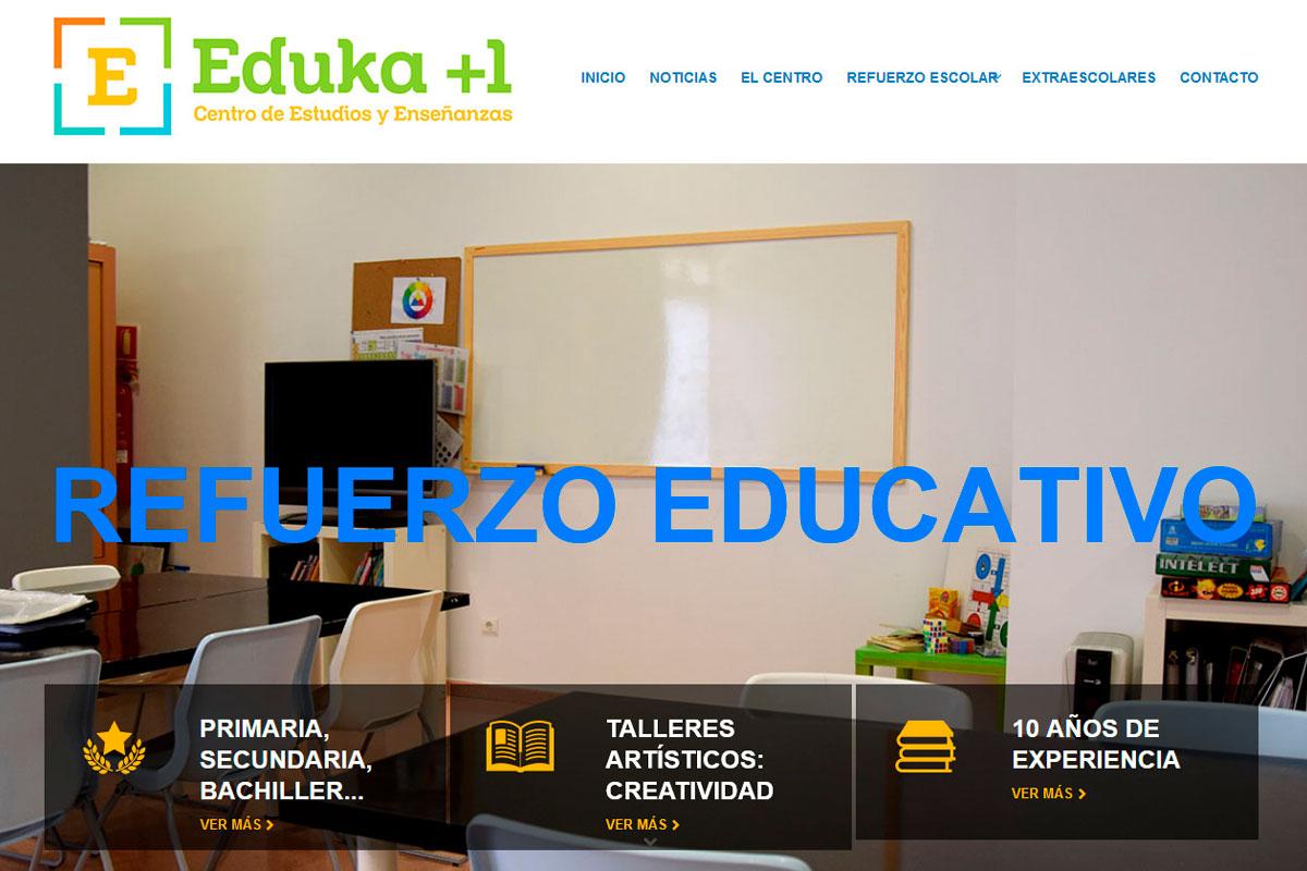 Desarrollo de página web de una academia de estudios: Academiaeduka.com