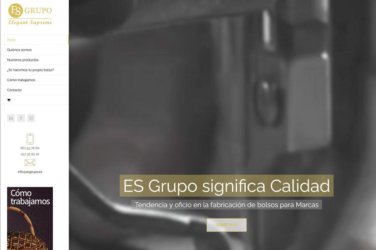 Desarrollo de página web de una empresa textil: Esgrupo.es