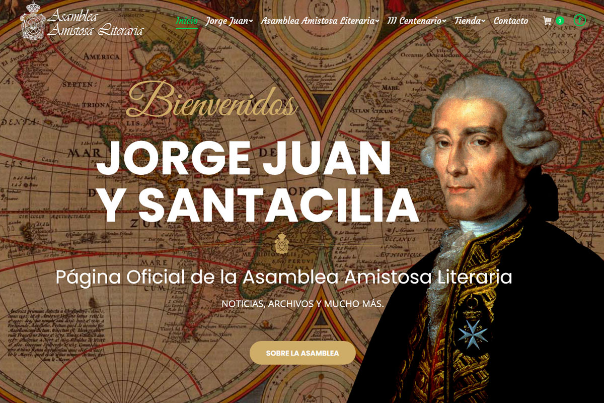 Desarrollo de página web de una asociación cultural: jorgejuan-aal.com