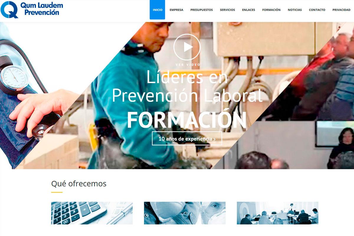 desarrollo página web de una empresa de riesgos laborales: qumlaudem.es