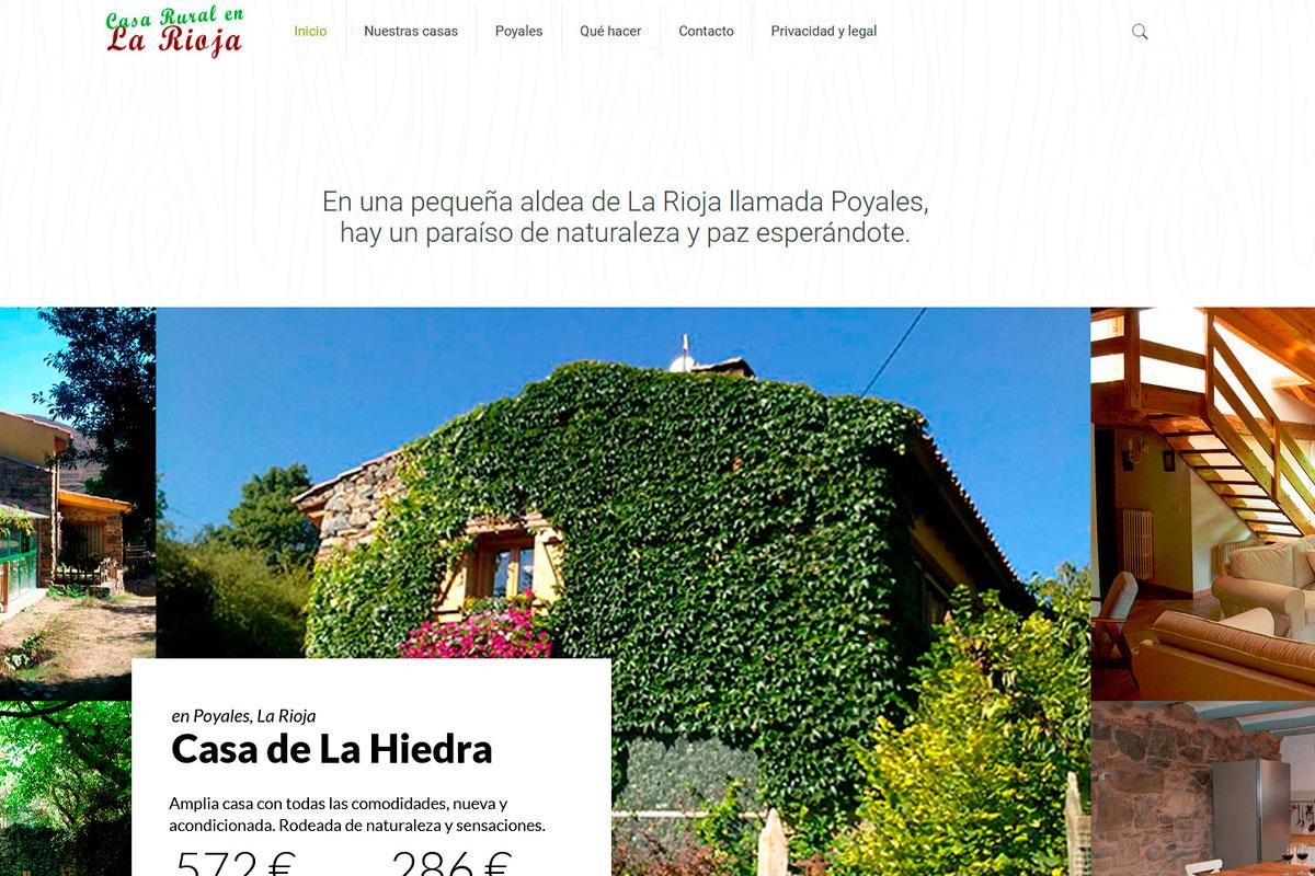 desarrollo página web de un alquiler rural: casaruralenlarioja.com