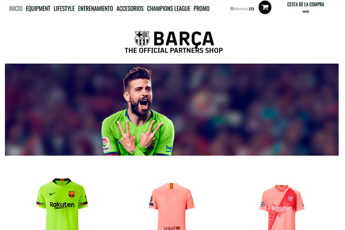 tienda online sponsors FC Barça