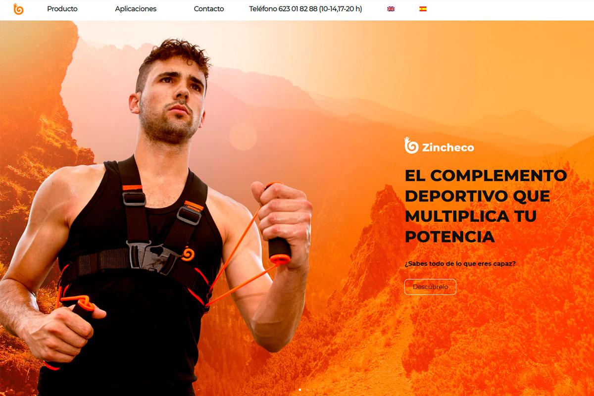 Desarrollo de página web de un cinturón deportivo: zincheco.es